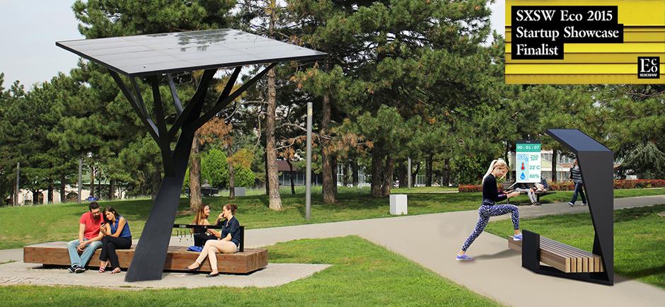 Strawberry energy smart street furniture