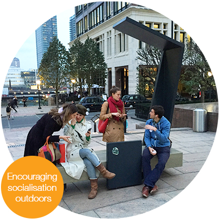 Encouraging socialisation outdoors