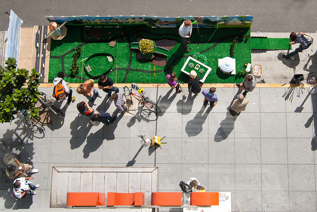 Parklet from air